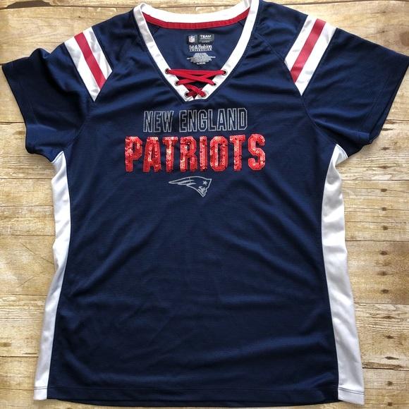 c0e51005a384 New England Patriots women s jersey sequins XL. M 5ae4f9c6daa8f6d22d90abf3